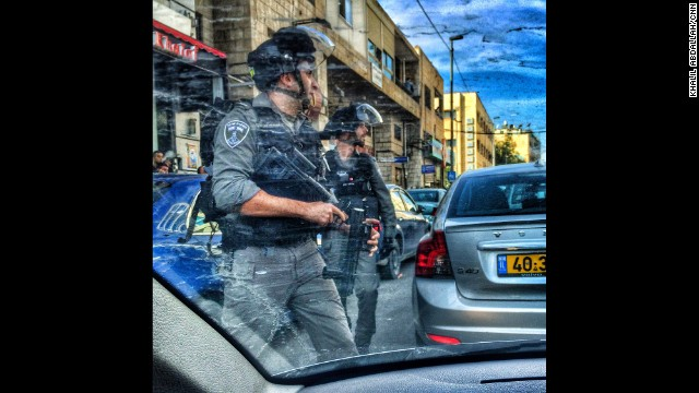 "JERUSALEM: ""Life on the streets of Jerusalem. One second your in a car driving & the other your in the middle of the action, Soldiers Vs Civilians. Shots fired & a few stun bombs."" - CNN's Khalil Abdallah, December 11. Follow Khalil (<a href='http://instagram.com/madcameraman' target='_blank'>@madcameraman</a>) and other CNNers along on Instagram at <a href='http://instagram.com/cnn' target='_blank'>instagram.com/cnn</a>."