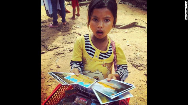 "CAMBODIA: ""Postcard seller in the Angkor complex, who can count to ten in 7 languages."" - CNN's Bex Wright. Follow Bex (@bextables) and other CNNers along on Instagram at <a href='http://instagram.com/cnn' target='_blank'>instagram.com/cnn</a>."