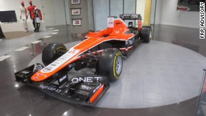The 2013 Marussia F1 team race car