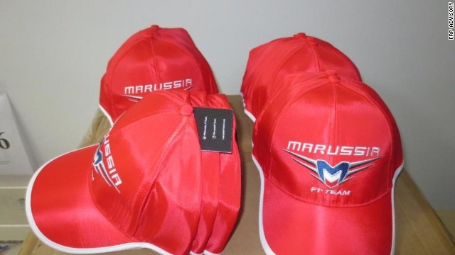 For bidders on a budget, smaller items such as Marussia team caps are for sale at the online auction, which takes place on December 16 and 17.