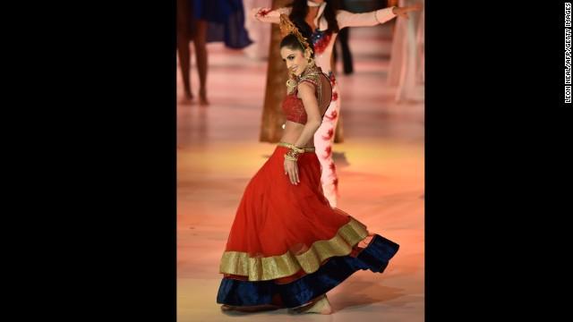 Miss India Koyal Rana dances.
