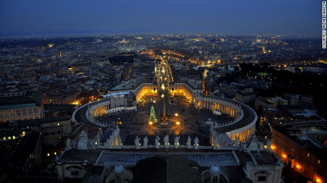 The Dome of St. Peter's Basilica offers a stunning view of the Vatican from above. Archaeologist and journalist <a href='http://ireport.cnn.com/docs/DOC-1075102'>Irene Fanizza</a>, who lives in Venice, snapped this photo during her annual visit to Rome in January 2014.