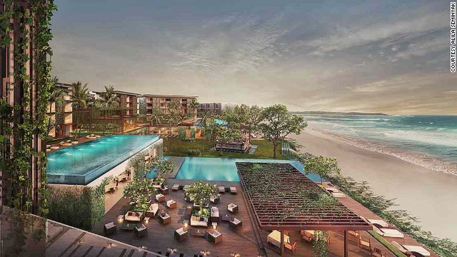 Alila Seminyak sits on a beach along Bali's southwest coast, a short walk from the bars and restaurants of Seminyak.