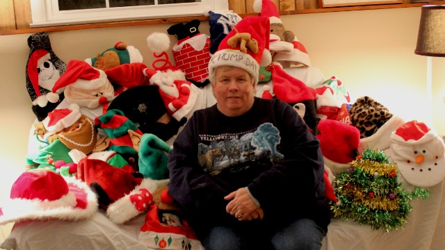 "School bus driver <a href='http://ireport.cnn.com/people/mommoore56'>Maureen Moore</a> has about 30 Christmas-themed hats, including one just for ""hump day,"" which she made at a student's request. She starts wearing them the first day after Thanksgiving, switching them out between her morning and afternoon runs."