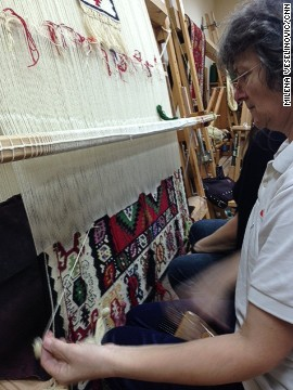 """We were born on carpets and we grew up in homes filled with Pirot carpets"" says Slavica Ciric, a Pirot carpet weaver. ""We realized about ten years ago that there is a danger that Pirot carpet weaving could soon disappear"" she adds."