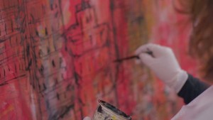 Layla Fanucci swapped music for the paint brush