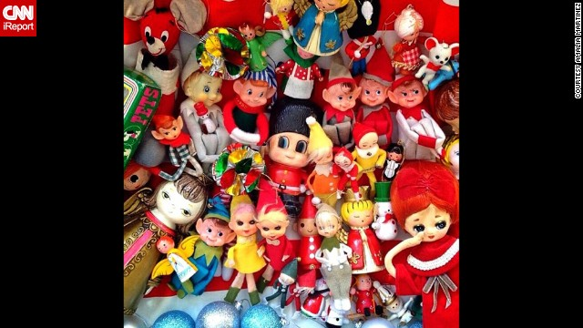 Amalia Martinez's love for <a href='http://instagram.com/chica__yeye' target='_blank'>vintage dolls and toys</a> led her and her fiance to start a collection of Christmas items from late '50s to mid-'60s, including elves, pixies and reindeer.