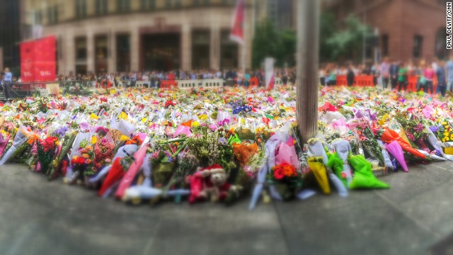 "SYDNEY, AUSTRALIA: ""Thousands continue to place flowers in Martin Place over 24hrs since the first ones were laid."" - CNN's Paul Devitt, December 17. Follow Paul (<a href='http://instagram.com/devocnn' target='_blank'>@devocnn</a>) and other CNNers along on Instagram at <a href='http://instagram.com/cnn' target='_blank'>instagram.com/cnn</a>."