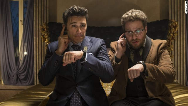 "December 16 -- The New York premiere of ""The Interview"" was canceled after ""The Guardians of Peace"" posted a threat against moviegoers. The message said: ""We will clearly show it to you at the very time and places 'The Interview' be shown, including the premiere, how bitter fate those who seek fun in terror should be doomed to,"" the hacking group said. ""The world will be full of fear. Remember the 11th of September 2001."""