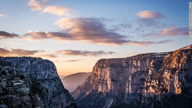 Locals in northwestern Greece's Eprirus region like to take guests to Vikos Canyon in the Aristi Mountains to show off the scenery.