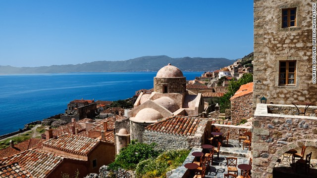 Off limits to cars, the old town of Monemvasia, in the southern Peloponnese, is one of Greece's best-preserved Byzantine citadels.