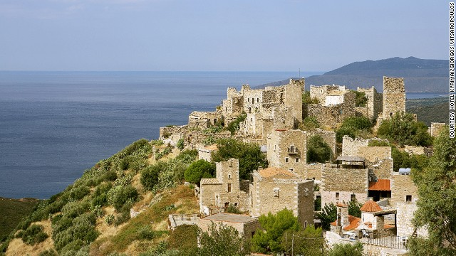 Located in Mani, in southern Greece's Peloponnese region, the Kyrimai Hotel started life in the 1870s as a cluster of commercial buildings.