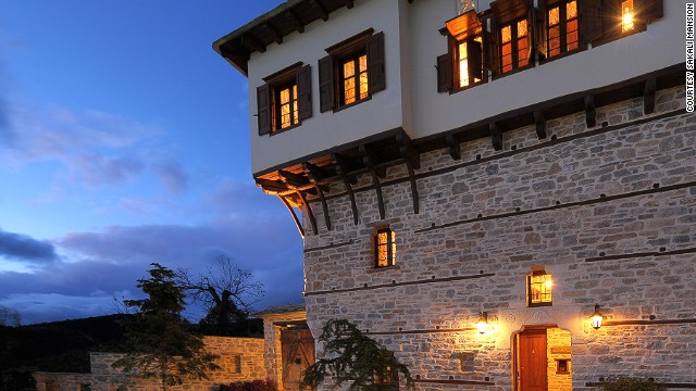 The Sakali Mansion in Pelion is a renovated 18th-century building converted into an immaculate guest house.