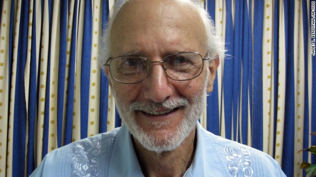 Alan Gross, at right with Rabbi Arthur Schneier, has been in Cuban custody since December 2009, when he was jailed while working as a subcontractor. Cuban authorities say Gross tried to set up illegal Internet connections on the island. Gross says he was just trying to help connect the Jewish community to the Internet. Former President Jimmy Carter and New Mexico Gov. Bill Richardson have both traveled to Cuba on Gross' behalf. On December 17, Gross was released from Cuban prison.