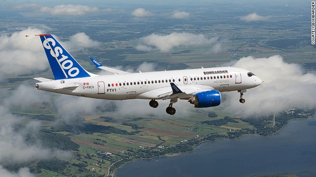 After a series of delays, Bombardier's CSeries should take off in October 2015. The plane has more than 500 orders from clients, including Canada-based Porter Airlines and China's Zhejiang Loong Airlines.