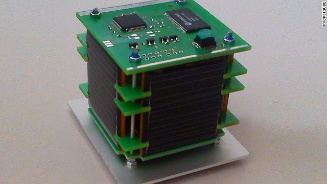 Five-centimeter satellite from Pocketqube.