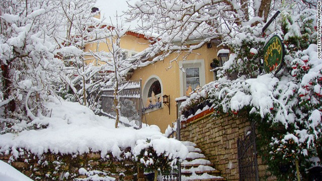 In the heart of Greece, the Evritania region has traditional villages, stunning gorges, heavily forested mountains and the Anerada Inn (pictured).