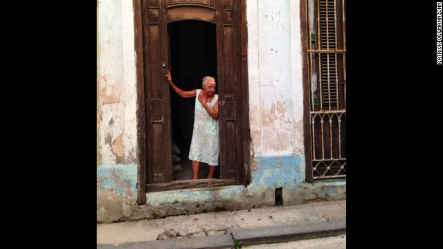 """Keeping watch over the neighborhood in Old Havana."""