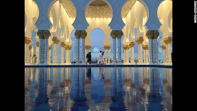 "UNITED ARAB EMIRATES: ""Feeling reflective in Abu Dhabi. Dusk at the Grand Mosque."" - CNN's Steven Jiang, December 18. Follow Steven (<a href='http://instagram.com/stevencnn' target='_blank'>@stevencnn</a>) and other CNNers along on Instagram at <a href='http://instagram.com/cnn' target='_blank'>instagram.com/cnn</a>."
