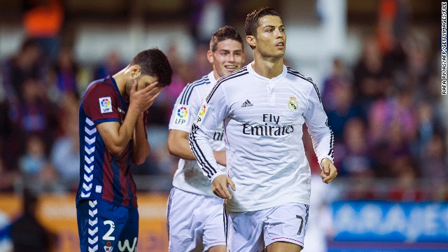 One of the biggest days of Eibar's season came with the visit of European champions Real Madrid. Los Blancos, complete with Cristiano Ronaldo, Gareth Bale and James Rodriguez, won 4-0 at Eibar's tiny Ipurua stadium in November. Madrid has a budget of €762m for the season, compared to Eibar's €18m.