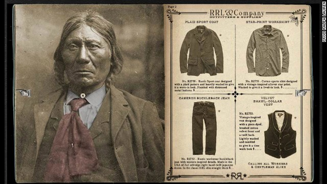 "Ralph Lauren's holiday ad campaign for its RRL line is being criticized for its ""assimilation aesthetic"" that features what appear to be antique photos of stoic Native Americans dressed in Western attire."