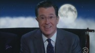 "For his final episode of ""The Colbert Report,"" Stephen Colbert signed off with a star-filled sing-a-long."