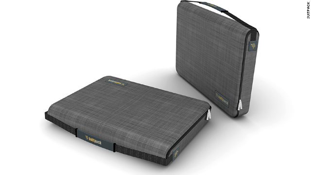 The SuitPack features several devices -- including shoulder pads -- that are used to fold a suit and keep it wrinkle-free. It's light, sturdy, looks decent and can fit enough extras to accommodate all other clothing needs for a short one-bag-only business trip.