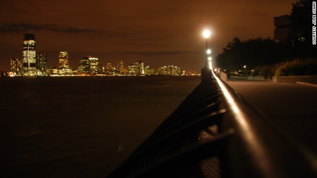 A serene walk through Battery Park after dinner is the perfect way to end the day, says <a href='http://ireport.cnn.com/docs/DOC-849277'>Julie Schao</a>.