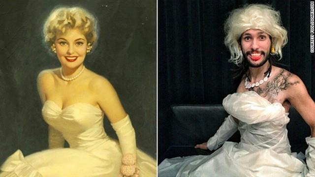 """Blonde Beauty"" by Walt Otto, circa 1950s."