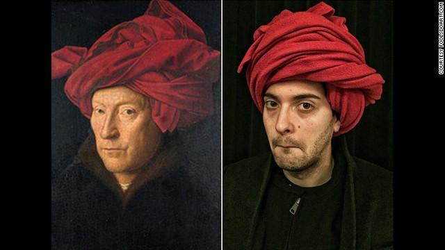 """""""Portrait of a Man in a Turban"""" by Jan van Eyck, 1433."""