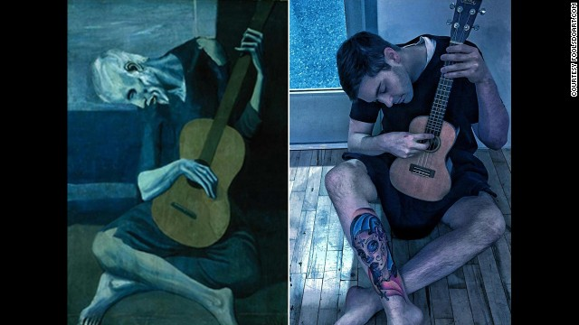 """""""The Old Guitarist"""" by Pablo Picasso, 1903."""