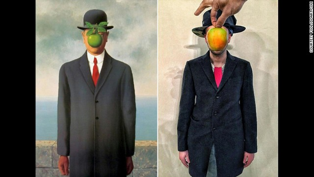 """""""The Son of Man"""" by Rene Magritte, 1964."""