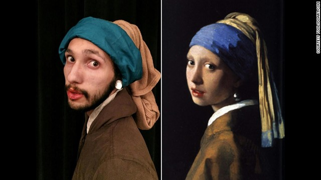 """""""Girl With a Pearl Earring"""" by Johannes Vermeer, 1665."""