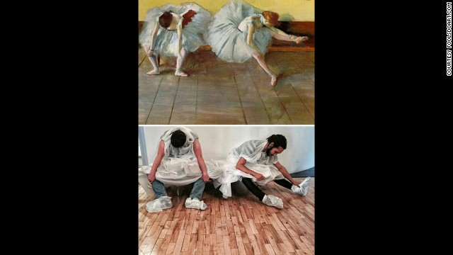 """Two Ballet Dancers"" by Edgar Degas, circa 1879."