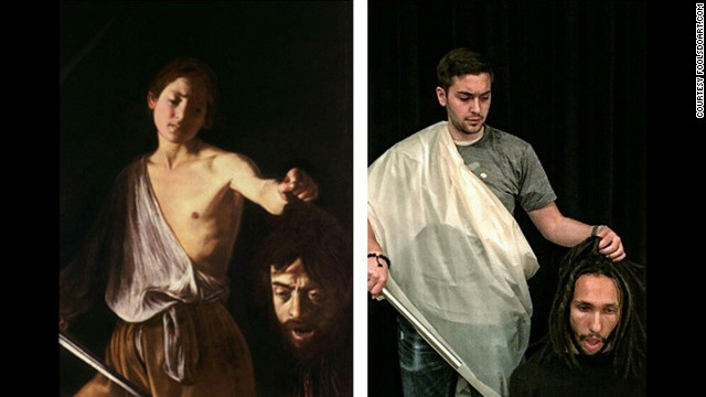 """""""David with the Head of Goliath"""" by Caravaggio, 1610."""