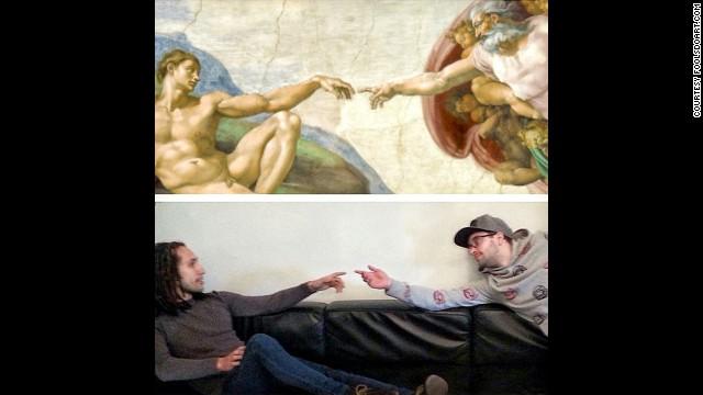 """The Creation of Adam"" by Michelangelo, circa 1508."