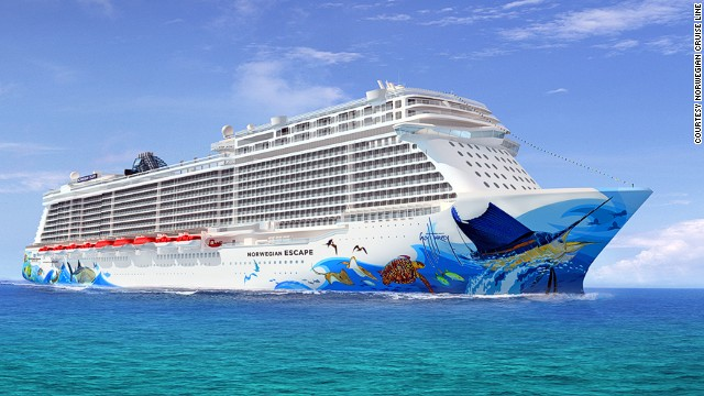 The Norwegian Escape will be the largest ship on the Norwegian Cruise Line fleet. Its most popular route is predicted to be the Eastern Caribbean itinerary, sailing from Miami.