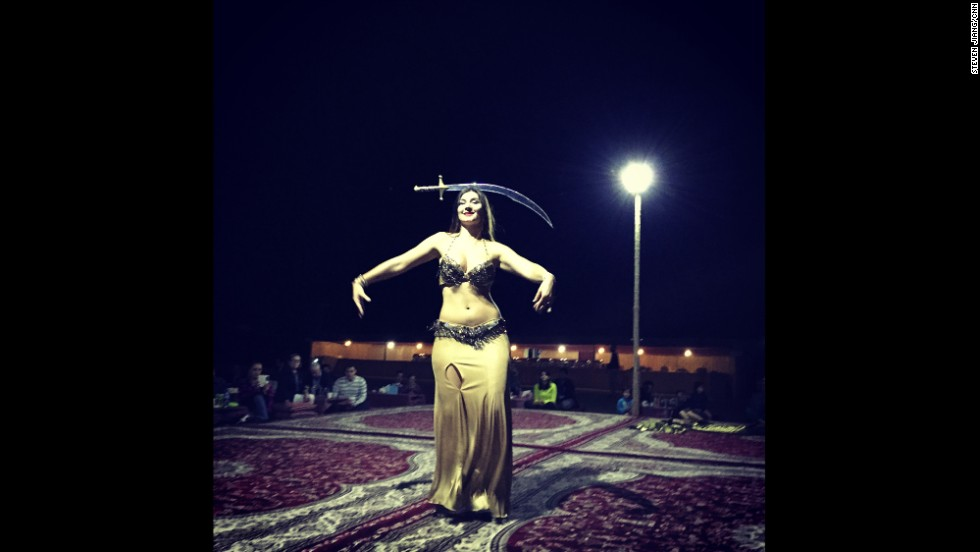 "UNITED ARAB EMIRATES: ""Belly dancer lights up the dark desert night in Abu Dhabi."" - CNN's Steven Jiang, December 20. Follow Steven (<a href='http://instagram.com/stevencnn' target='_blank'>@stevencnn</a>) and other CNNers along on the new 'Scenes from the field' gallery on Instagram at <a href='http://instagram.com/cnnscenes' target='_blank'>instagram.com/cnnscenes</a>."