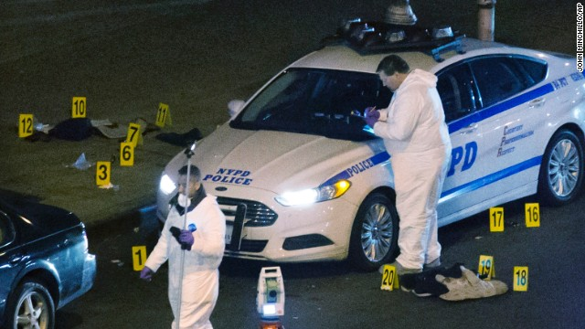 Two NYPD officers fatally shot