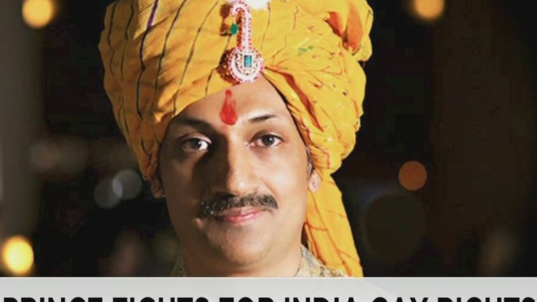 Indian prince fights for gay rights...