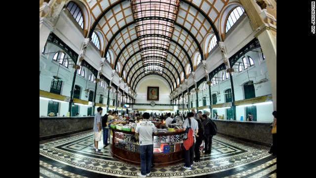 "VIETNAM: ""Central Post Office in Ho Chi Minh City. Construction on the building started in 1886. It was designed by the same man who built the Eiffel Tower and Statue of Liberty."" - CNN's Jon Jensen. Follow Jon (<a href='http://instagram.com/jonjensencnn' target='_blank'>@jonjensencnn</a>) and other CNNers along on Instagram at <a href='http://instagram.com/cnn' target='_blank'>instagram.com/cnn</a>."