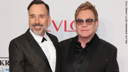 NEW YORK, NY - OCTOBER 28: Chairman David Furnish (L) and Founder Sir Elton John attend the Elton John AIDS Foundation's 13th Annual An Enduring Vision Benefit at Cipriani Wall Street powered by CIROC Vodka on October 28, 2014 in New York City. (Photo by Neilson Barnard/Getty Images for CIROC Vodka)