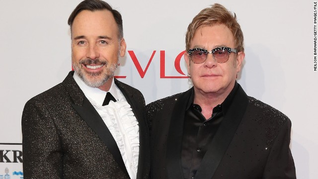 <a href='http://ift.tt/1zR5xeK' target='_blank'>David Furnish and Sir Elton John married</a> Sunday, December 21, in Britain, where same-sex marriage became legal earlier this year. They had a civil partnership ceremony in 2005, after 12 years together.