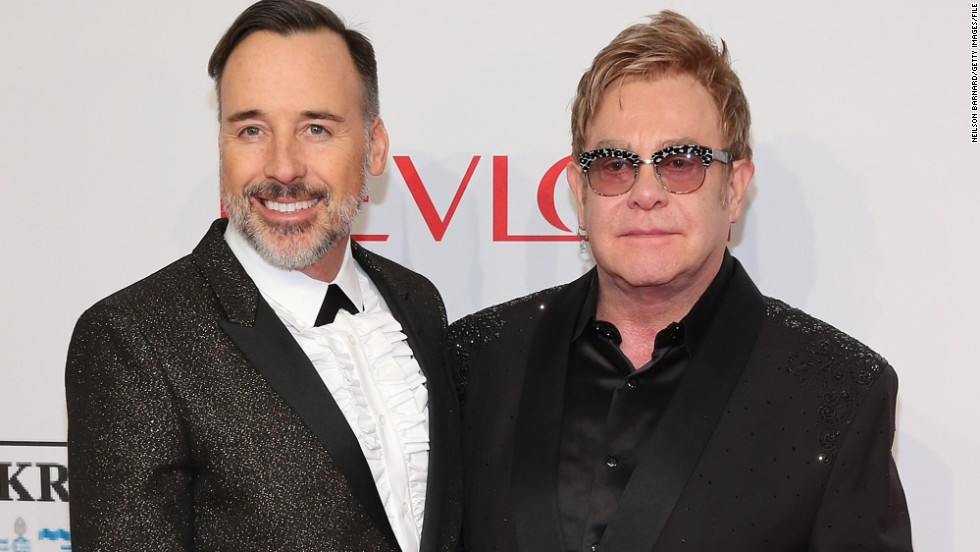 <a href='http://www.cnn.com/2014/12/21/showbiz/elton-john-wedding/index.html' target='_blank'>David Furnish and Sir Elton John married</a> Sunday, December 21, in Britain, where same-sex marriage became legal earlier this year. They had a civil partnership ceremony in 2005, after 12 years together.