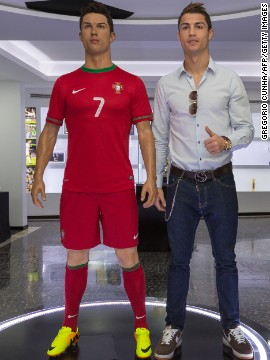 Inside Ronaldo's museum also stands a wax statue of the Real Madrid player.