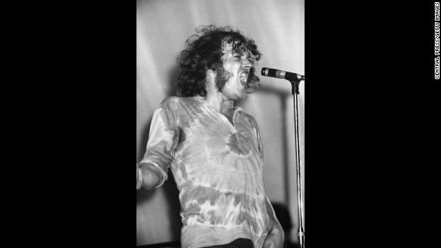 Born in Sheffield, Cocker got his start singing in pubs across England. Here he's performing at the Isle of Wight Festival in 1969.