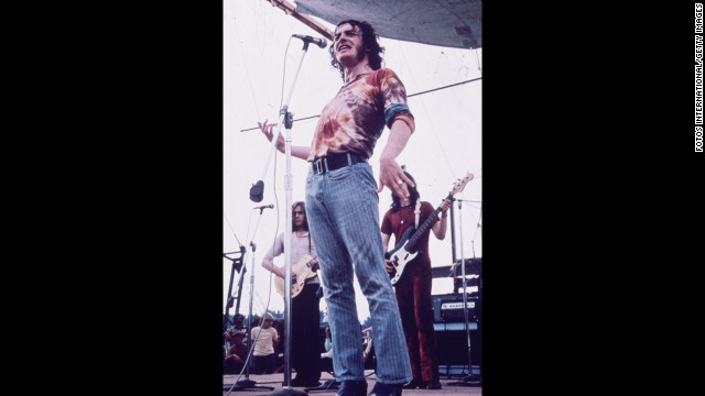 "Cocker, wearing a tie-dyed shirt and blue jeans, sang the Beatles' ""With a Little Help From My Friends"" at Woodstock in 1969. It helped launch his career in the U.S."