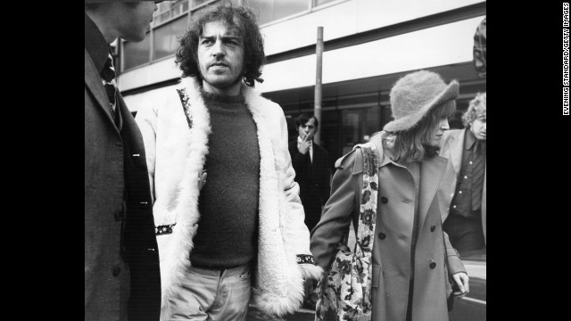 "Cocker and his friend Eileen Webster arriving at Los Angeles airport in 1972. His live album, ""Mad Dogs and Englishmen,"" was a big hit in the early '70s."