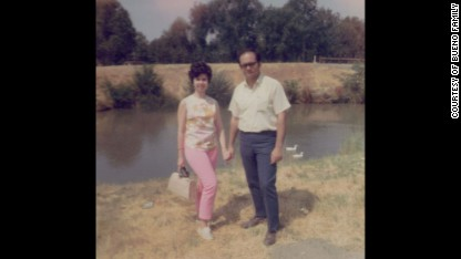 1969 Estela and Arturo in Los Angeles, California when they were dating. They met while in college.