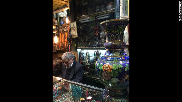 IRAN: Treasures of the Grand Bazaar in Tehran. Photo by CNN's Amir Daftari, December 24. Follow Amir (<a href='http://instagram.com/daftpix' target='_blank'>@daftpix</a>) and other CNNers along on Instagram at <a href='http://instagram.com/cnn' target='_blank'>instagram.com/cnn</a>.